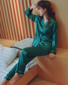 Long sleeve long pants pajamas 2pcs set for women