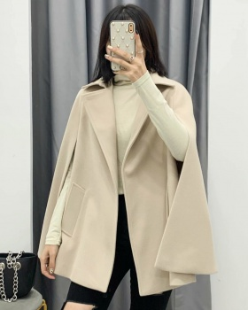 All-match loose coat retro overcoat for women