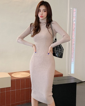 Long sleeve long dress autumn and winter dress