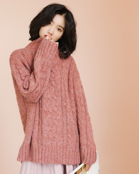 Long sleeve autumn and winter high collar sweater