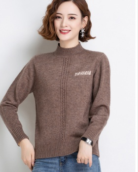 Half high collar all-match fleece loose sweater