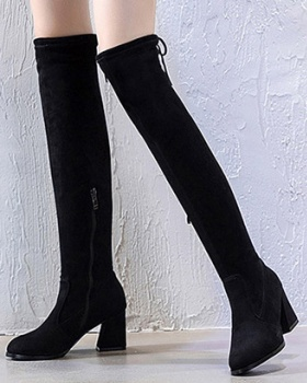 Slim fashion boots all-match thigh boots for women