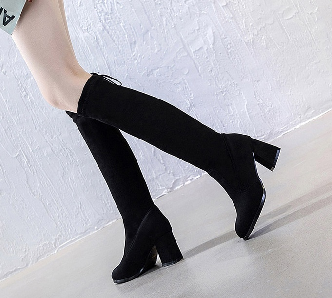 Fashion slim boots elasticity thigh boots for women