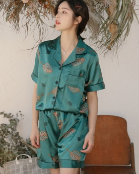 Cozy short sleeve shorts summer Casual pajamas a set