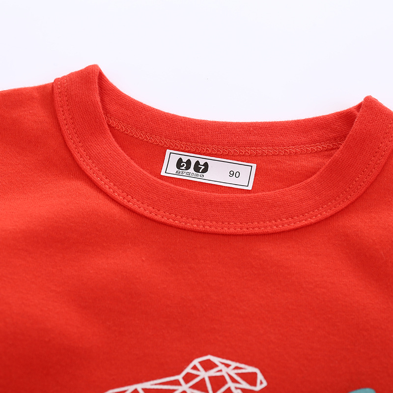 Child spring and autumn T-shirt Korean style kids for men