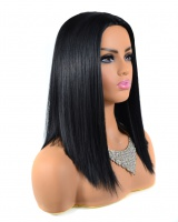 Long European style wig fashionable short straight hair