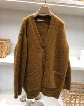 Korean style knitted cardigan loose sweater