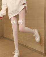 Thin bottoming socks tights charming legs bow socks