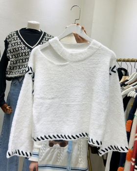 Lazy autumn and winter short loose fashion sweater for women