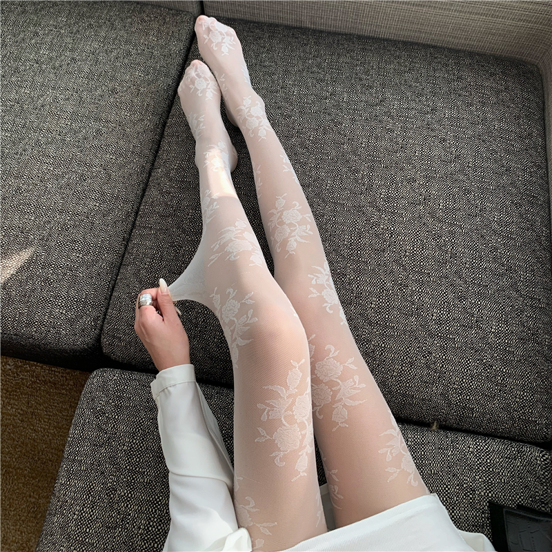 Thin bottoming socks tights colors stockings