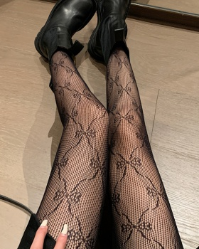 Fishing net bottoming stockings retro bow tights for women