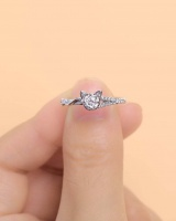 Simulation lovely European style kitty fashion ring