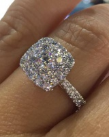 Wedding European style zircon ring