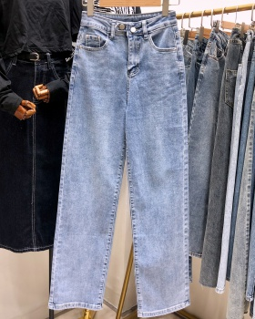 High waist mopping loose pants straight thin jeans