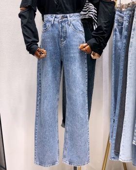 Loose Casual long pants Korean style straight jeans for women