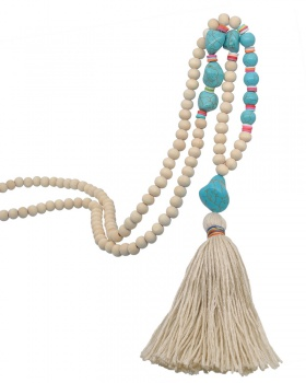 Tassels long Bohemian style necklace for women
