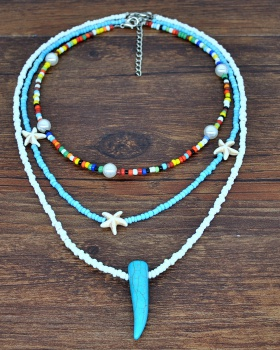 Bohemian style beads accessories multilayer necklace