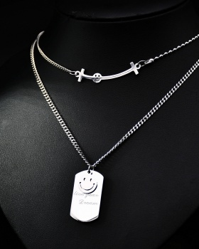 Letters necklace smiley clavicle necklace for women