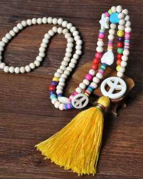 Bohemian style tassels turquoise necklace for women