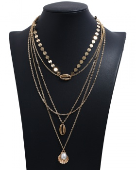 Multilayer European style necklace metal gold accessories