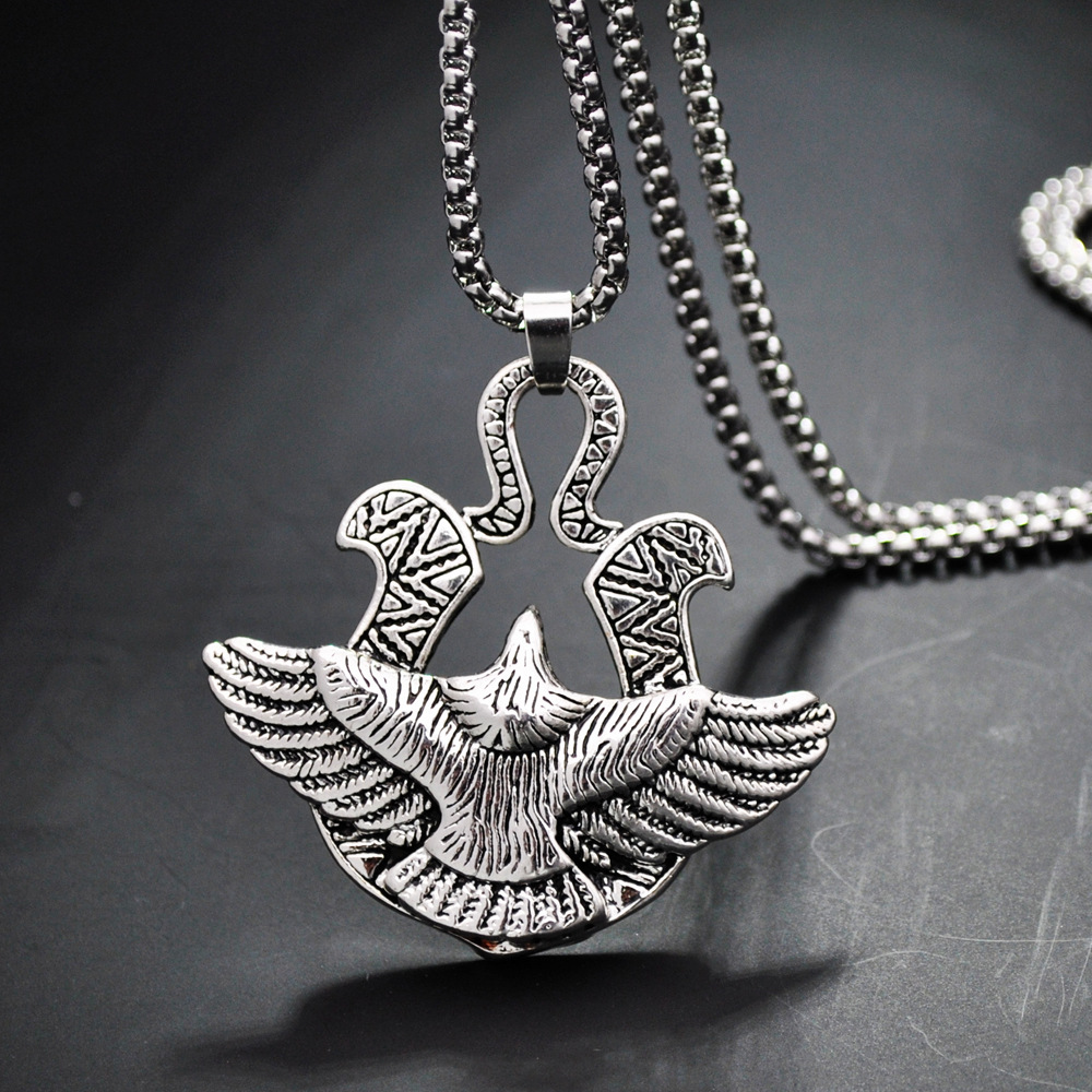 Titanium Punk style steel hip-hop pendant necklace