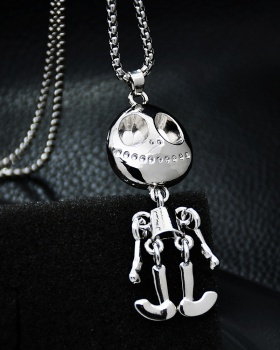 Cartoon joint titanium pendant personality necklace