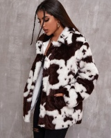 Dairy cow pattern autumn and winter coat loose jacket