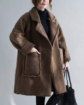 Long large yard overcoat thermal autumn and winter coat