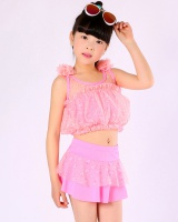 Girl separate little girl lovely child swimwear
