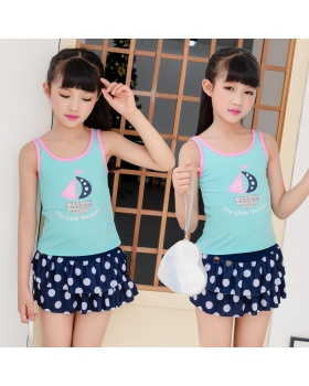 Western style separate skirt vacation baby swimwear