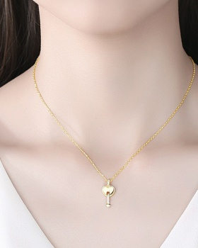 Long heart necklace fashion gold clavicle necklace