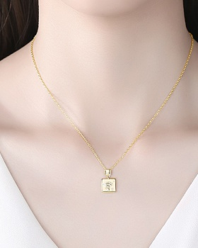Fashion inlay zircon clavicle necklace gold necklace