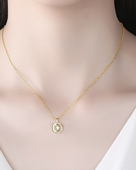 Simple inlay zircon necklace fashion clavicle necklace