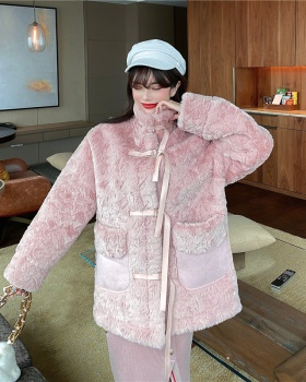 Autumn and winter fur coat thick coat for women