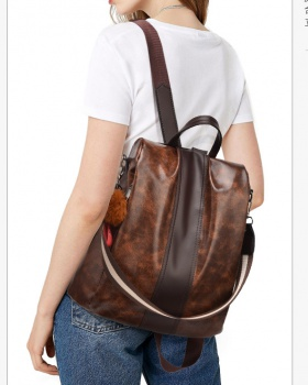 Retro simple backpack fashion schoolbag for women