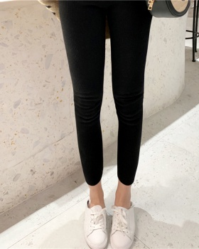 Cotton all-match Korean style slim thick leggings