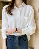 Pure loose temperament shirt spring Korean style tops