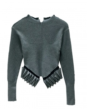 Knitted modal slim all-match bottoming shirt for women