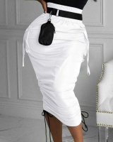 Sexy pocket European style package hip slim bandage skirt