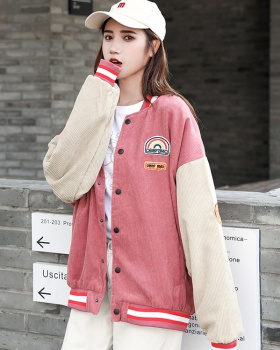 Student maiden coat corduroy couples baseball uniforms