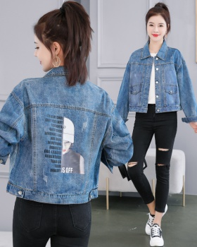 All-match fashion jacket denim spring and autumn tops