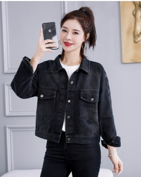 Korean style all-match coat fashion tops for women
