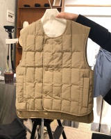 Korean style quilted cotton coat retro vest