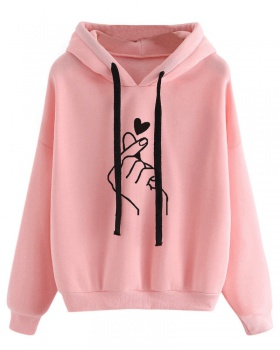 Hooded loose Casual multicolor hoodie for women