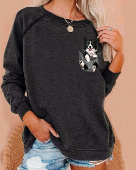 Loose spring hoodie European style tops for women
