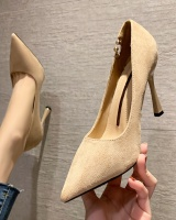 Broadcloth high-heeled shoes all-match shoes for women