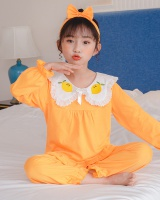 Child girl baby cotton pullover pajamas a set for women