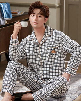 Casual homewear autumn and winter cotton pajamas for men