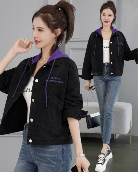Denim fashionable tops all-match coat for women