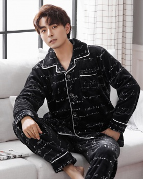 Flannel winter pajamas a set for men